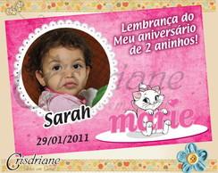 Convite Gatinha Marie Sentada