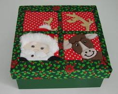 Esgotado - Caixa Mdf Papai Noel e Henna
