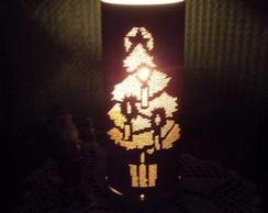 Lumin�ria arvore e velas