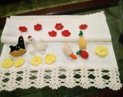 Miniaturas - Galinhas, frutas e flores