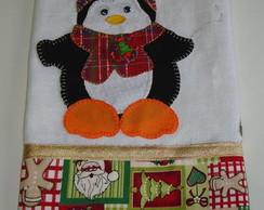 Pano de Prato Natal Pinguim