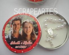 Latinhas com mini ter�o - casamento
