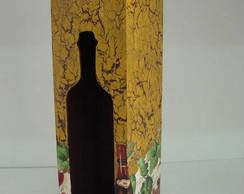 Caixa vinho em mdf com tampa