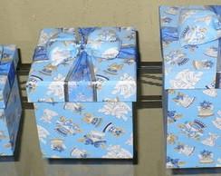 Trio de caixas anjos de natal