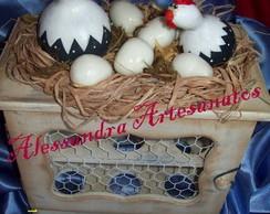 Galinheiro porta ovos