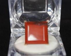 Anel folheado - pedra jaspe