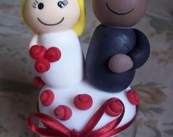 Casal no pote de biscuit
