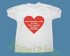 T-Shirt Beb� e Infantil MADRINHA � TDB!