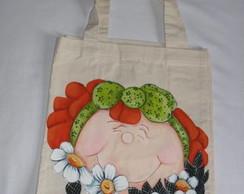 Eco Bag Menina com Flores