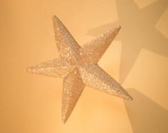 Estrela fechada para decora��o - 28cm