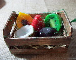 Caixote de frutas em sabonete