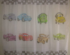 Cortina Infantil Personagens Carros III