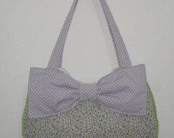 Bolsa de tecido com la�o lil�s C32