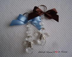 Chaveiro Anjo Azul e Marrom - Lembran�a