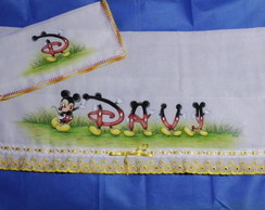 Kit de Fraldas Mickey com Nome - Davi