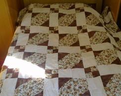Colcha em Patchwork para cama de solteir