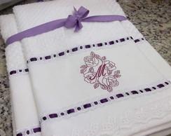 Jogo de toalhas bordadas 04 pe�as