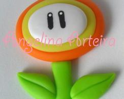 Flor de Fogo Super Mario Bros Aplique