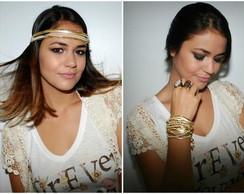 3 em 1: Tiara,colar & pulseira GOLDEN