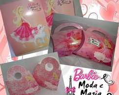 Kit barbie moda e magia