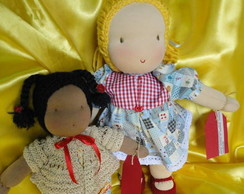 Bonecas inspiradas na pedagogia waldorf