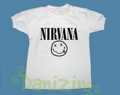 T-Shirt Beb� e Infantil NIRVANA