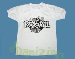 T-Shirt Beb� e Infantil ROCK N ROLL
