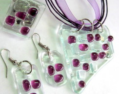 Vidro - Bijuterias / Glass Jewelry Set