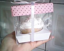 Cupcake de lim�o na caixinha de acr�lico