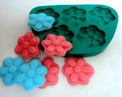 Molde de silicone Flor 5 cavidades.
