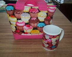 Bolsa + caneca Cupcake
