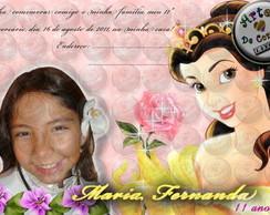 "Convite ""A Bela e a Fera"" 3"