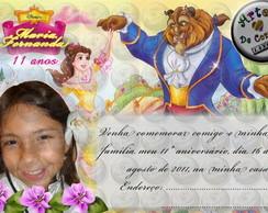 "Convite ""A Bela e a Fera"" 2"