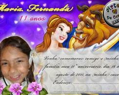 "Convite ""A Bela e a Fera"" 1"