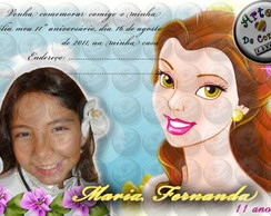 "Convite ""A Bela e a Fera"" 5"