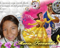"Convite ""A Bela e a Fera"" 6"