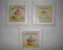 Trio quadros proven�ais Cupcakes