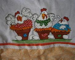 Pano de Prato galinhas