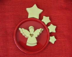 Biscoito Decorado - Estrelas e Anjos