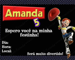 Convite Anivers�rio Toy Story 7x10