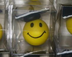 Chaveirinhos smiles em biscuit