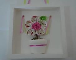 Quadro flor fuxico