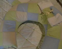 Almofada de amamenta��o em patchwork