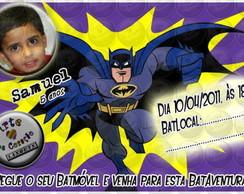 """Convite """"Batman"""" 2"""