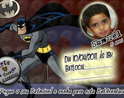 """Convite """"Batman"""" 3"""