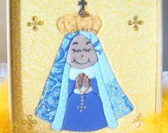 Quadro N. Sra. Aparecida em patchwork