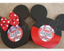 Porta retrato ou recado Mickey/Minnie