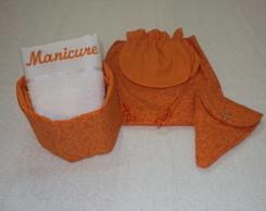 Kit manicure laranja