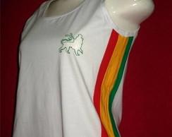 Camiseta Regata Reggae Artesanal BRANCA