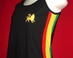 Camiseta Regata Reggae Artesanal PRETA
